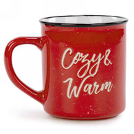 "Ceramic Mug ""Cozy & Warm"" 3.5""x4""H"