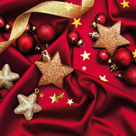Lunch Napkins - Ball & Star Ornaments