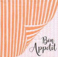 """Lunch napkin - Bon Appetit 6.5""""x6.5"""""""