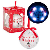 "3"" LED Ornament ""Winter Wishes"""