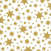 "Lunch napkin with gold stars 6.5""x6.5"""