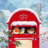 "Lunch Napkins - Lunch napkins - Red mail box 6.5""x6.5"""