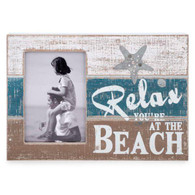"Relax & Beach 4x6 antique photo frame 12""x8.5""H"