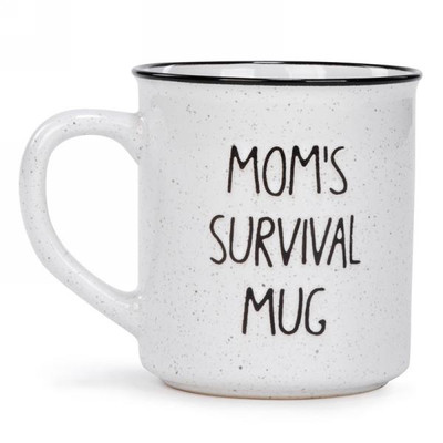 "Ceramic Mug ""Mom's Survival Mug"" 3.5""x4""H"