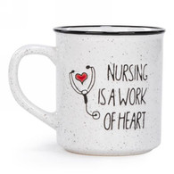 "Ceramic Mug ""Nursing is a Work of Heart"" 3.5""x4""H"