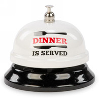 "White metal bell - Dinner is Served 3""DX2.5""H"