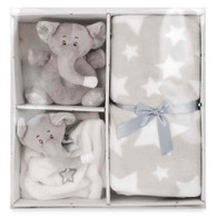 "White & Grey Bear Plush set 12""x12"""
