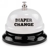 "White metal Bell - Diaper Change 3""DX2.5""H"