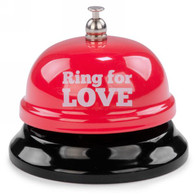 "White metal Bell - Ring for Love 3""DX2.5""H"
