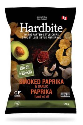 Hardbite Handcrafted Style Chips - Smoked Paprika & Garlic 128 gr., 15/cs