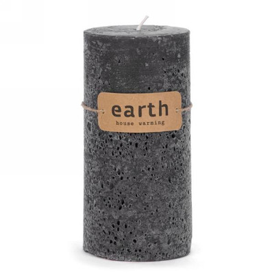 """Black candle 3""""x5.5""""H"""