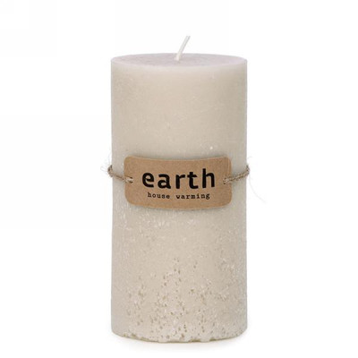"Cream candle 3""x5.5""H"