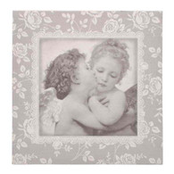 "Cherub wall frame canvas 14""x14"""