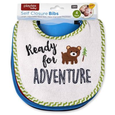 "Playtex 4-Pack Bibs ""Ready for Adventure"""