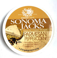 Sonoma Jacks Gourmet shelf-stable Cheese Wedges - Parmesan Peppercorn 113 gr., 12/cs