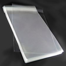 "14""x30"" Clear Cellophane bags 40 micron (1.6 mil) - 100 bags/bundle"