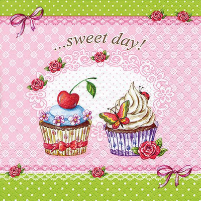 """Sweet Day Cupcakes 6.5""""x6.5"""""""