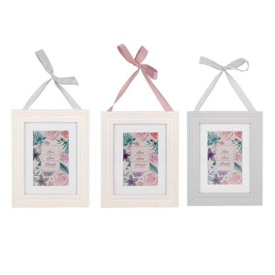 "Hanging frame LIVE LOVE LAUGH for 4""x6"" photo - 8""x9.5""H Min 3 - 1 of ea colour"