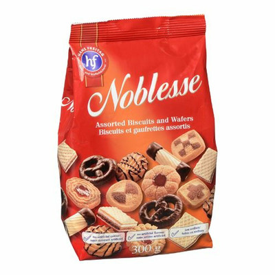 Noblesse assorted biscuits and wafers - milk chocolate 300 gr., 10/cs