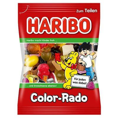 Haribo Color-Rado Licorice & Gummy Candy 100 gr., 30cs