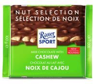 Ritter Sport milk chocolate with Cashews 100 gr., 12/cs