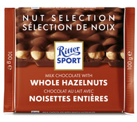 Ritter Sport milk chocolate with Whole Hazelnuts 100 gr., 10/cs