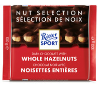 Ritter Sport dark chocolate with Whole Hazelnuts 100 gr., 10/cs