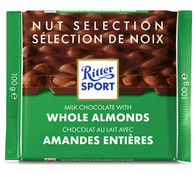 Ritter Sport milk chocolate with Whole Almonds 100 gr., 11/cs