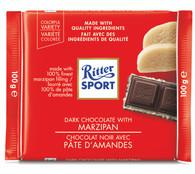 Ritter Sport Dark chocolate with Marzipan 100 gr., 12/cs
