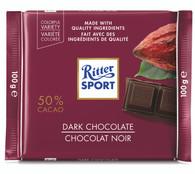 Ritter Sport Dark chocolate 50% Cacao 100 gr., 12/cs
