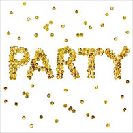 """Lunch napkin - Party in Gold 6.5""""x6.5"""""""