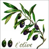 "Lunch napkin - l'olive 6.5""x6.5"""