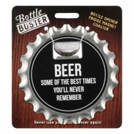 "Beer bottle opener ""Some of the best times..."" 4""D Fridge Magnet"