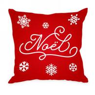 """Red NOEL cushion 17""""x17"""""""