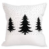 """White cushion with Trees 17""""x17"""""""