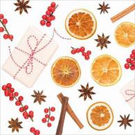 "Lunch napkins - Citrus & Berries 6.5""x6.5"""