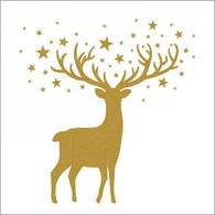 "Lunch napkin - Gold Deer 6.5""x6.5"""