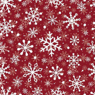 """Lunch napkins - White Snowflakes on Red 6.5""""x6.5"""""""