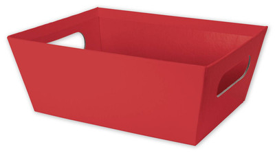 """Small Market tray - RED 9.2""""x7.2""""x3.6""""H"""