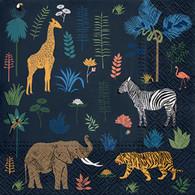 "Lunch napkin - Exotic Animals 6.5""x6.5"""