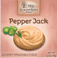 Glacier Ridge Pepper Jack Spreadable Cheese 99 gr., 12/cs