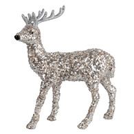 """Standing glittered table top reindeer  9""""H"""