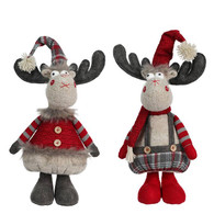 """Fabric standing moose 15""""H - 2 styles"""