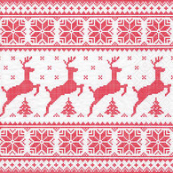 """Cocktail napkins - Deer in red 5""""X5"""""""