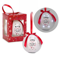 """3"""" LED Ornament """"Nurse with a Heart of Gold"""""""