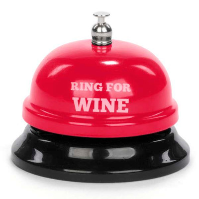 """Red metal bell - Ring for Wine 3""""DX2.5""""H"""
