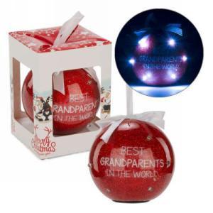 "3"" Red LED Ornament - Grandparents"