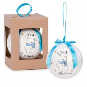 "3"" First Christmas Ball Ornament - Blue"