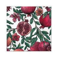 "Cocktail napkins - Pomegranate 5""x5"""