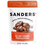 Sanders Milk chocolate sea salt caramel pecan cluster 198 gr., 6/cs